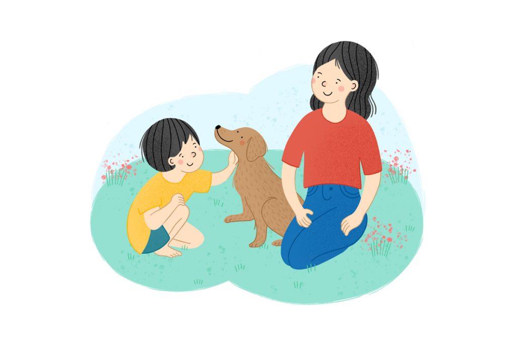dziecko z psem
